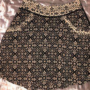 Free People Jacquard Mini Skirt Black/Cream